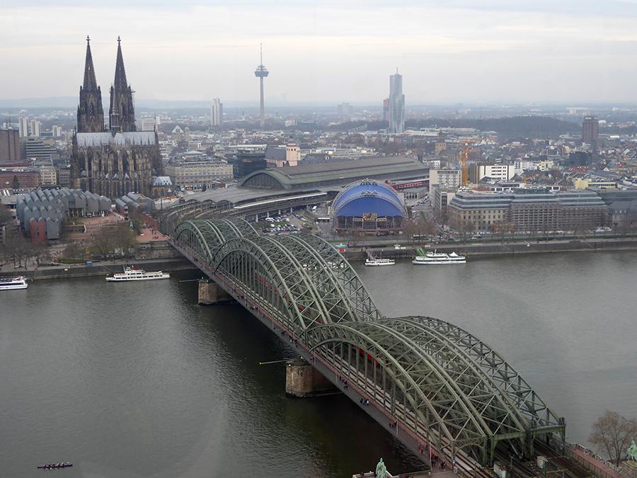 Blick von oben auf Köln