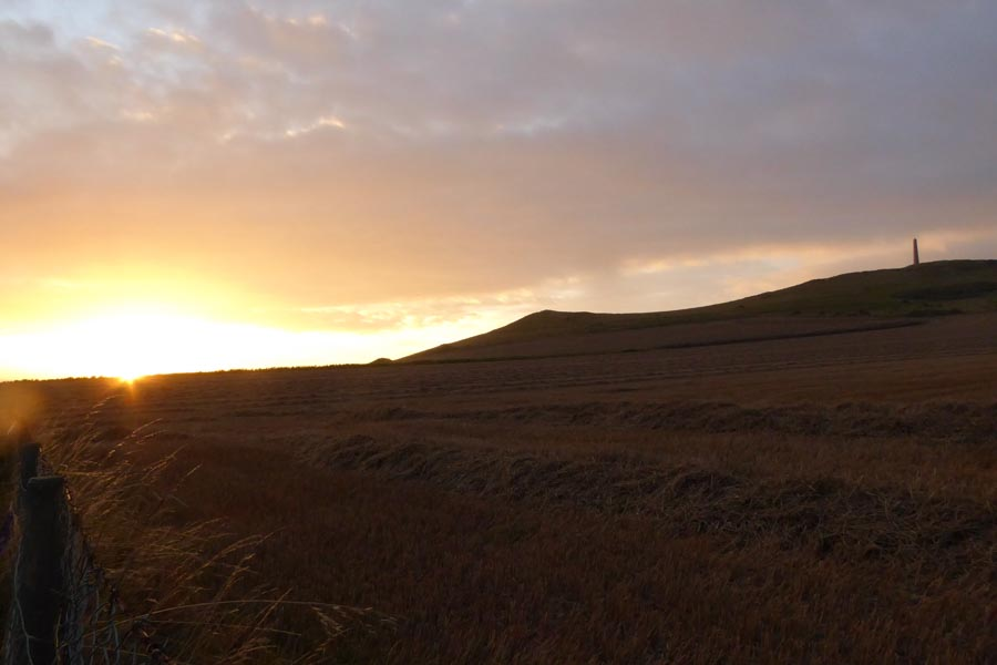 Sonnenuntergang hinter dem Kap