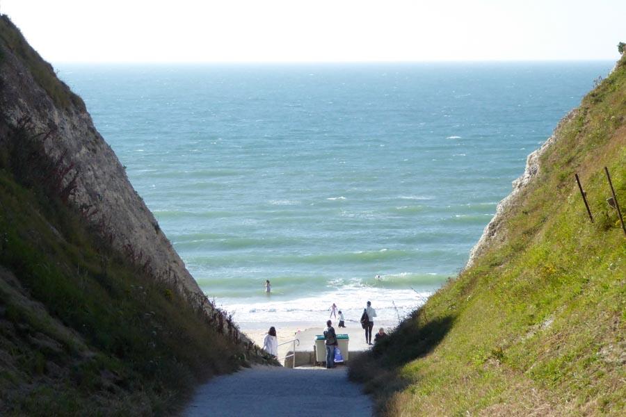 Der Durchgang zum Meer
