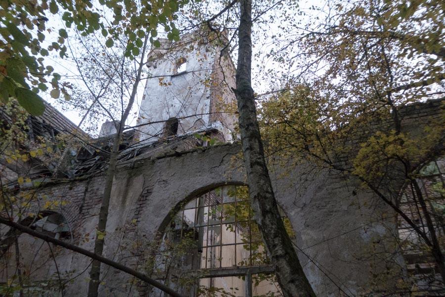 """Ruine des Ausflugslokals """"Waldburg"""""""