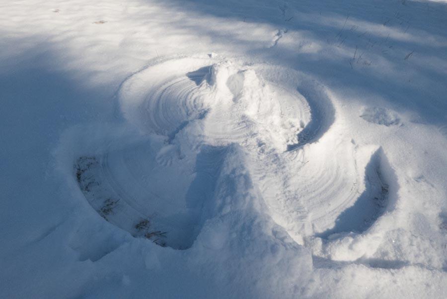 Ein Schneeengel