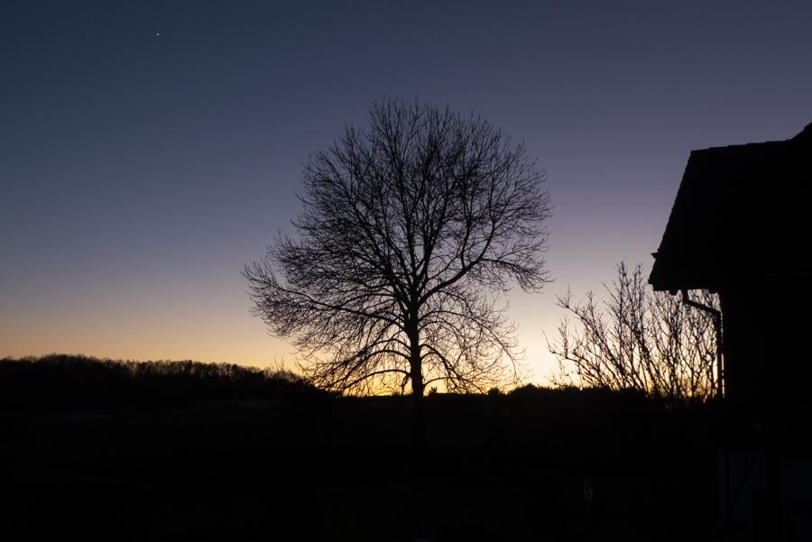 winterliches Abendrot
