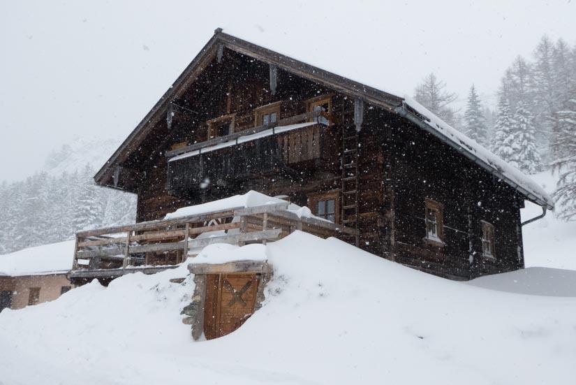 Der erste Schnee und es schneit weiter